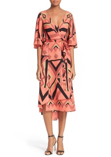 Tracy Reese Kimono Sleeve Wrap Dress