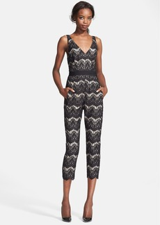 Tracy Reese Lace Crop Jumpsuit