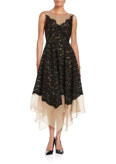 TRACY REESE Lace Illusion Dress