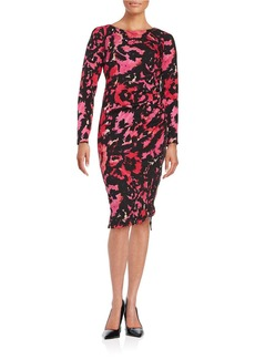 TRACY REESE Lace-Patterned Ruched Dress