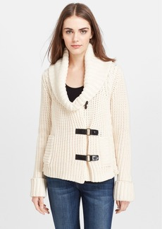 Tracy Reese Leather Trim Sweater Jacket