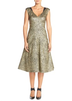 Tracy Reese Metallic Midi Dress