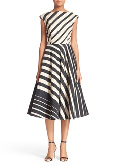 Tracy Reese Multidirectional Fit & Flare Dress