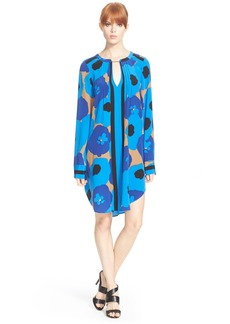 Tracy Reese Pintuck Floral Print Tunic