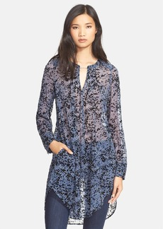 Tracy Reese Pintuck Print Silk Tunic