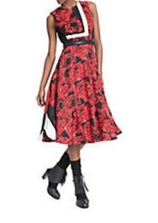 TRACY REESE Placement Floral Fit-and-Flare Dress
