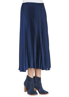 Tracy Reese Pleated Cotton Maxi Skirt