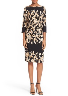 Tracy Reese Print Crepe Sheath Dress