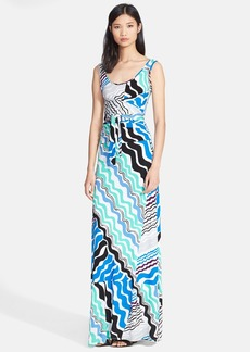 Tracy Reese Print Jersey Maxi Dress