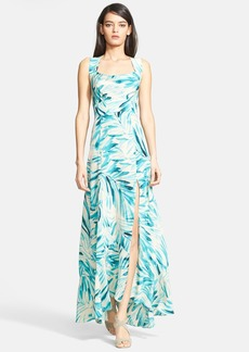 Tracy Reese Print Silk Maxi Dress