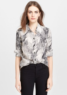 Tracy Reese Print Silk Shirt