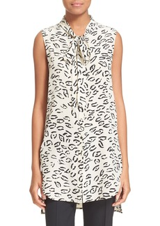 Tracy Reese Print Sleeveless Silk Tunic