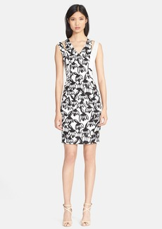 Tracy Reese Print Stretch Crepe Sheath Dress