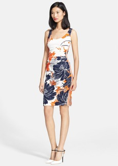 Tracy Reese Print Stretch Crepe Tank Dress
