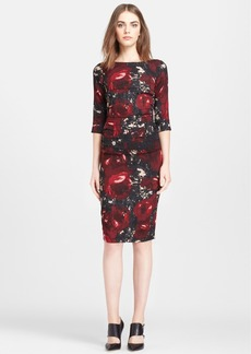 Tracy Reese Print Stretch Silk Crepe Dress