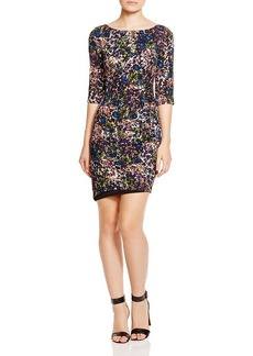 Tracy Reese Printed Side Zip Dress