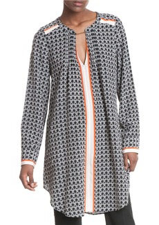 TRACY REESE Printed Silk Shift Dress