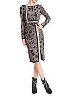 TRACY REESE Printed Stretch-Silk Dress