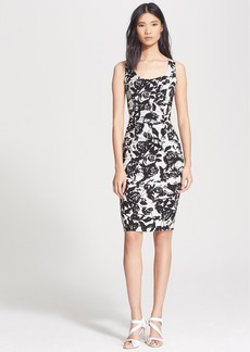Tracy Reese Ruched Stretch Crepe Sheath Dress