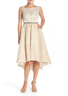 Tracy Reese Sequin Appliqué Woven Fit & Flare Dress