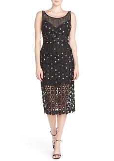 Tracy Reese Sequin Appliqué Woven Midi Dress