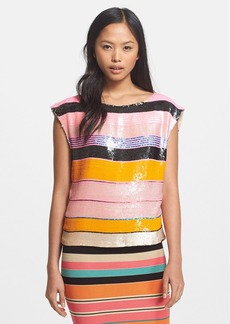 Tracy Reese Sequin Stripe Top