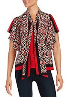 TRACY REESE Silk Tie Blouse