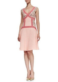 Tracy Reese Sleeveless Flared Inset Dress, Shocking Pink
