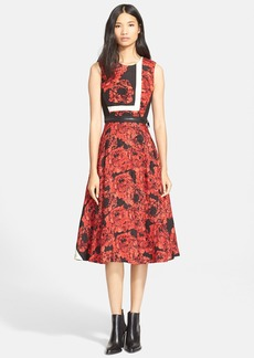 Tracy Reese Sleeveless Floral Print Fit & Flare Dress