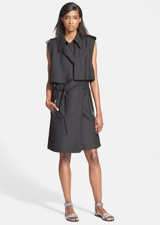 Tracy Reese Sleeveless Stretch Cady Trench Coat