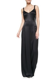 Tracy Reese Sleeveless Wide-Leg Jumpsuit, Black