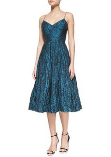 Tracy Reese Spaghetti Strap Floral-Print Ballerina Dress