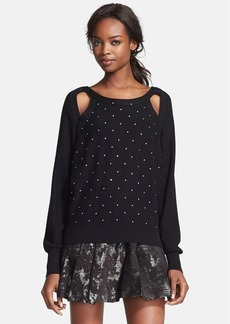 Tracy Reese 'Sparkle' Embellished Cutout Pullover