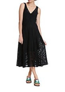 TRACY REESE Spliced V-Neck Dress