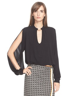 Tracy Reese Split Sleeve Keyhole Shirt