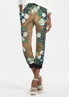 Tracy Reese Stretch Crepe Track Pants