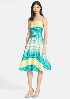 Tracy Reese Stripe Fit & Flare Dress