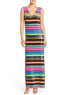Tracy Reese Stripe Sequin Gown