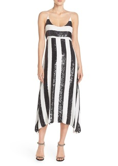 Tracy Reese Stripe Sequin Slipdress