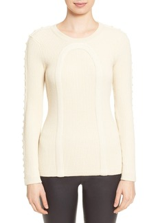 Tracy Reese Stud Embellished Rib Knit Sweater