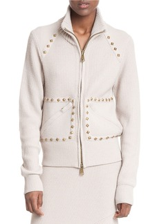 TRACY REESE Studded Knit Raglan Jacket