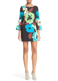Tracy Reese 'T' Flounce Sleeve Floral Print Dress