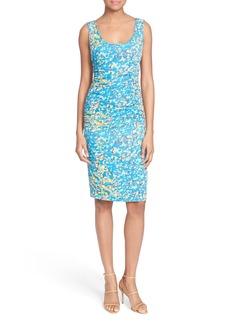Tracy Reese 'T' Print Stretch Silk Dress