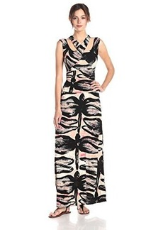 Tracy Reese Women's Abstract Dragonfly Printed Jersey Dress