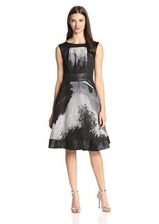 Tracy Reese Women's Abstract Lace Fit and Flare Dress