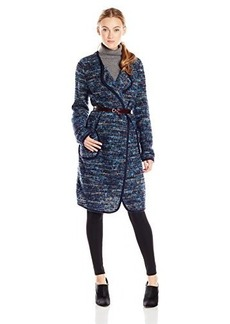 Tracy Reese Women's Alpaca Blend Tweed Cardigan Sweater Coat