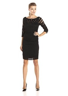 Tracy Reese Women's Back Clasp T Dress, Black, Large