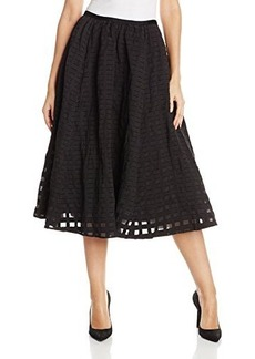 Tracy Reese Women's Cotton Metal Fit and Flare Skirt
