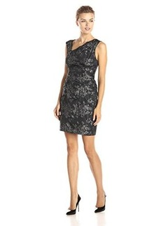 Tracy Reese Women's Crunchy Taffeta Cocktail Dress, Silver, 8