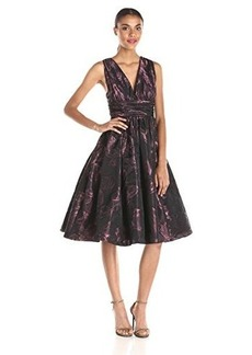 Tracy Reese Women's Crunchy Taffeta Shirred Dress, Mauve, 4